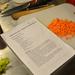 Chefparade életkép: minden előkészítve, recept kinyomtatva. A répát már mi kockáztuk fel.