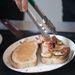 Vannak ilyen banános mogyorókrémes baconös szendvicsek is, menüben. 1500 forint a három fogás. Megéri!