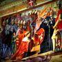 Nagymesteri Palota freskórészlete