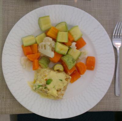Párolt zöldség hallal ideális ebéd vagy vacsora lehet.