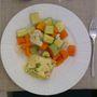 Párolt zöldség hallal ideális ebéd vagy vacsora lehet