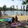 A veresegyházi hivatalos strand a Malom-tónál