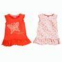 Narancsszínű ujjatlanok kislányoknak, 2 db van egy csomagban, 2790 forintért