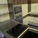 A beépíthető sütők és sík főzőlapok is jól mutatnak az Ében-H stand minimál környezetében