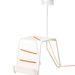 Lámpa-asztal, cipőfűzőre emlékeztető neonszínű textil dekorral: 19990.-