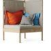 Térelválasztó és pihenőfotel, nyír és textil: 69900.-