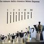 Kiállítás Bialetti kávéfőzőiből Milánóban.