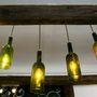 Olcsó és hangulatos az üvegből készült lámpa