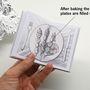 Így a csavar az egészben az, hogyha az üres lapokat tartalmazó könyvet fóliába csomagolva 25 percre betesszük a száz fokra felmelegített sütőbe, akkor a receptek szövege és az ahhoz csatolt képek láthatóvá válnak.