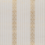 Ennek a tapétának a különlegességét az adja, hogy fémes pigmenteket használtak fel a gyártás során. A szürke-arany kombinációja mai s megállná a helyét egy elegáns irodában, annak ellenére, hogy keletkezése 1880-1900 közé tehető.