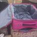 Így néz ki  a kézipoggyász méretű táska belülről. Elég bóvli...