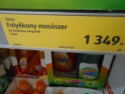 mosószer is, 549 forint.