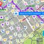 Egy fokkal bonyolultabb útvonalat adott mint a Nokia térkép.