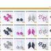 Az origamiszerű fülbevalók 3790 forintba kerülnek.