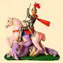 Szent György Ken éppen egy My Little Ponyval küzd rózsaszín lován.