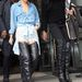 Rihanna combig érő bőrcsizmában partizik. Szereti a kurvás szetteket