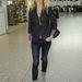 Lazán a londoni repülőtéren.
