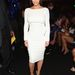Kim Kardashian a BET Awardson fehér Tom Ford ruhában.