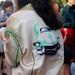 Tavalyi Prada kabát a divathét backstage-ben.