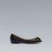 Elöl díszített fekete balerina cipő 12995 forint, Zara