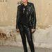 Bőr nadrág és bőr dzseki a H&M és Maison Martin Margiela buliján.