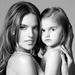 A brazil modell és 4 éves lánya, Anja
