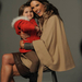 Ambrosio és a télapónak öltöztetett lánya a márka kampányképén