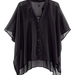 H&M: fekete áttetsző ing 5990 forint. Különleges fazonja és áttetszősége feldobja a fekete szetteket.