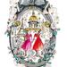 A karácsonyi kirakatban 12 bábun mutatják be a legendás couture ruhákat.