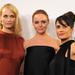 Balról jobbra: Amber Valetta modell, Stella McCartney, az est sztárja, és Salma Hayek, minden más este sztárja.