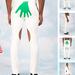 Fehér nadrág zöld tenyérrel 54.800 forint.