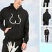 Fekete kapucnis pulóver fenékkel 16.100 forint.