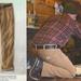 Barna nadrág fűtéshez, vagy favágáshoz 11.300 forint.
