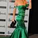 Eva Herzigova az Emerald Ball-ra stílszerű ruhában érkezett