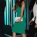 Jessica Biel a Total Recall augusztusi londoni premierjén vett szűk zld ruhát