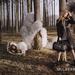 Lindsey Wixson és óriás medvék egy képen a Mulberrynél.