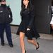 Január 15: Kardashian bizony átöltözött. A szereplés után egy fekete, de nem sokkal kényelmesebb ruhában távozott.