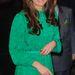 Natural History Museum új kiállításának megnyitóján zöld selyem Mulberry ruhában.Hasonló ruhája Dianának is volt.