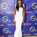 Naomi Campbell stílusos fehér ruhában nyitotta meg valóság showját New Yorkban