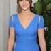 Jennifer Lawrence kékben érkezett a Golden Globe-ra.