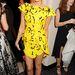 Laura Whitmore sárga miniben az Elle afterpartiján