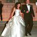 Andie MacDowell második esküvőjén, 2001-ben viselt Wang esküvői ruhát.