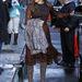 Eva Mendes egy leopárdmintás Dolce & Gabbana ruhában ment március 19-én David Letterman Late Showjának New York-i felvételére.