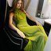 Georgia May Jagger a repülő kényelmes fotelját élvezi.