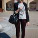 Ági Givenchy napszemüvegben, Mango blézerben vásárol.