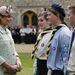 Katalin Windsorban beszélget cserkészekkel április 21-én
