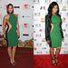 Alicia Keys és Ashanti is egy különleges szabású zöld ruha mellett döntött. Jól állt a barna bőrüknek!