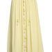 Keresztekkel díszített halványsárga szoknya a Romwe-n 29 dollár, azaz 6500 forint.