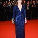 Kristin Scott Thomas az Only God Forgives vetítésére vett lila Armani Privé ruhát.