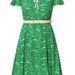 Zöld ruha Pán Péter gallérral 128 ezer forint az Orla Kiely szalonban